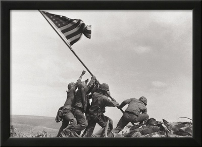 Flag Raising on Iwo Jima, c.1945 Print by Joe Rosenthal