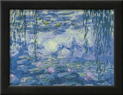Water Lilies and Willow Branches Prints by Claude Monet