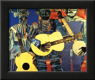 Three Folk Musicians, 1967 Art by Romare Bearden