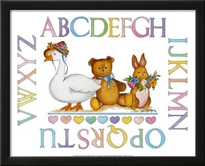 Alphabet Sampler Posters by Marnie Bishop Elmer