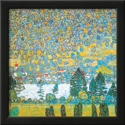 Mountain slope at Unterach Prints by Gustav Klimt