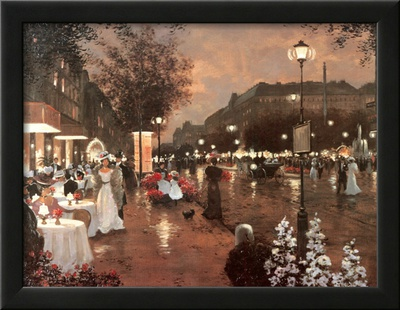 Evening Street Scene Art by Christa Kieffer