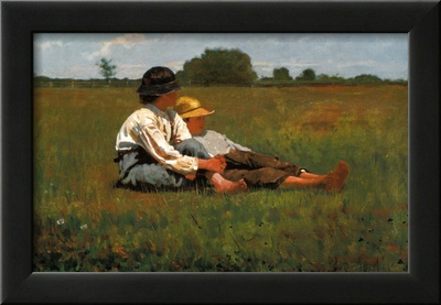 Boys in a Pasture, 1874 Prints by Winslow Homer