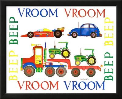 Vroom Vroom Beep Beep Prints by Marnie Bishop Elmer