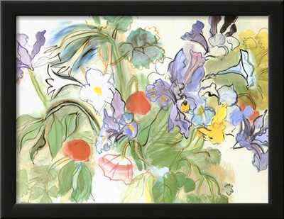 Poppies and Iris Poster by Raoul Dufy