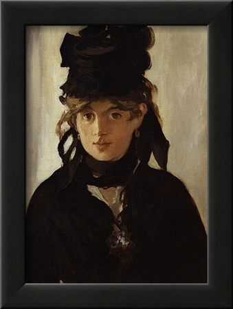 Berthe Morisot with Bouquet of Violets, c.1872 Poster by Édouard Manet