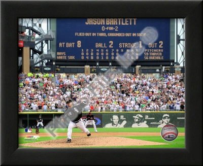 Mark Buehrle '09 Perfect Game Final Pitch with Scoreboard Poster