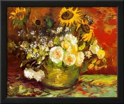Vase of Flowers Posters by Vincent van Gogh