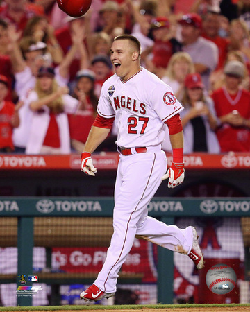 Mike Trout 2014 Action Photo