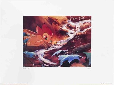 Walt Disney's Bambi: Drip, Drip, Drop Prints