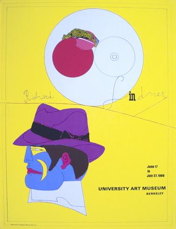 University Art Museum Serigrafiprint (silkscreentryck) av Richard Lindner