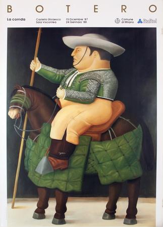 La Corrida Collectable Print by Fernando Botero