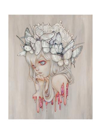 Strawberry Print by Camilla D'Errico