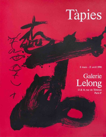 Black and Red, Galerie Lelong Collectable Print by Antoni Tapies