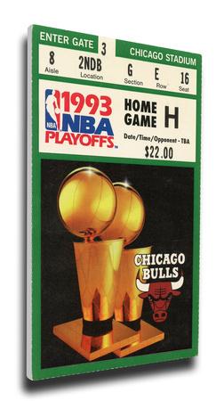1993 NBA Finals Mega Ticket - Chicago Bulls Stretched Canvas Print