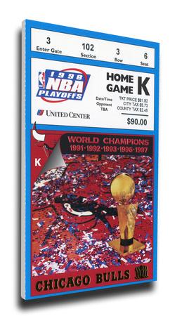 1998 NBA Finals Mega Ticket - Game 3 - Chicago Bulls Stretched Canvas Print