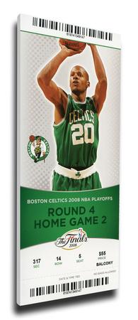 2008 NBA Finals Mega Ticket - Game 2, Allen - Boston Celtics Stretched Canvas Print