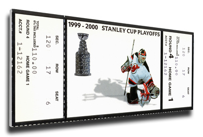 2000 NHL Stanley Cup Mega Ticket - New Jersey Devils Stretched Canvas Print