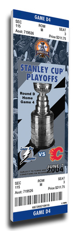 2004 NHL Stanley Cup Commemorative Mega Ticket - Tampa Bay Lightning Stretched Canvas Print