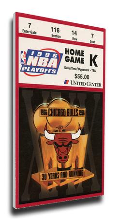 1996 NBA Finals Mega Ticket - Game 5 - Chicago Bulls Stretched Canvas Print