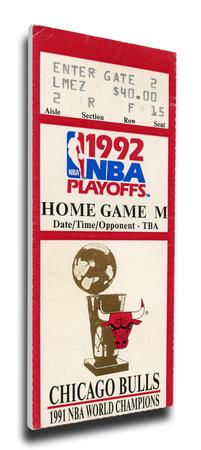 1992 NBA Finals Mega Ticket - Game 6 - Chicago Bulls Stretched Canvas Print