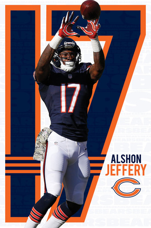 Chicago Bears - A Jeffery 14 Posters