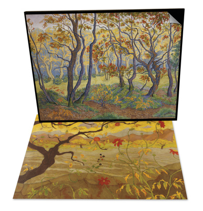 Edge of the Forest & Apple Tree with Red Fruit, c.1902 Set Poster by Paul Ranson