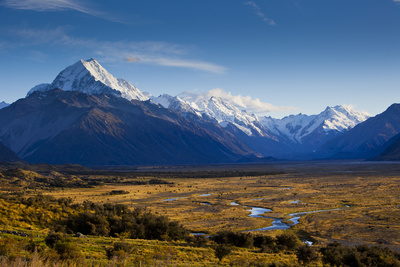 New Zealand's Southern Alps in Aoraki/Mt. Cook National Park in the South Island Photographic Print by Sergio Ballivian