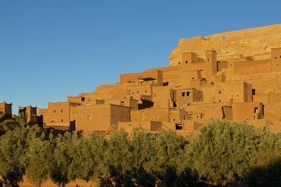 Morocco, Kasbah Ait Ben Addou. the Kasbah Is Surrounded by an Oasis Photographic Print by Michele Molinari
