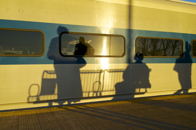 USA, New York, Beacon, at the Mta Train Station Photographic Print by Michele Molinari