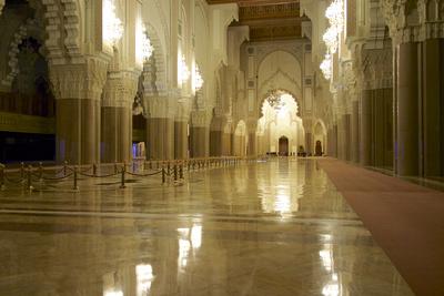Morocco, Casablanca. the Great Mosque Photographic Print by Michele Molinari