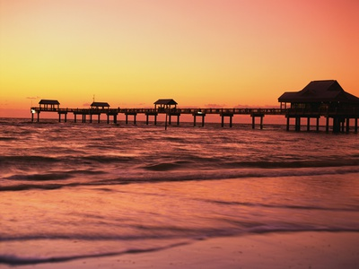 Clearwater Pier on Gulf of Mexico Fotografisk tryk af James Randklev