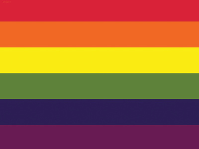 Gay Pride Rainbow Flag Print Poster Posters