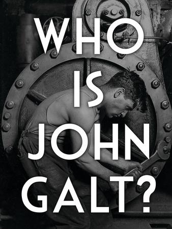 Atlas Shrugged Who is John Galt Art Poster Print Posters