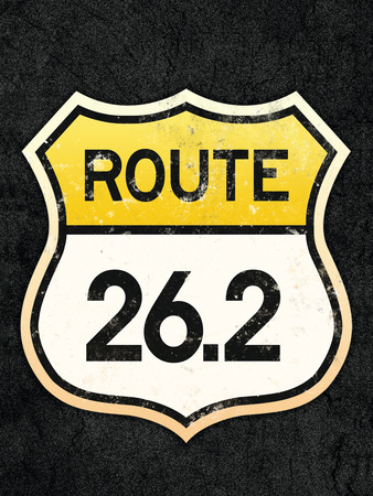 Route 26.2 Marathon Sports Poster Poster