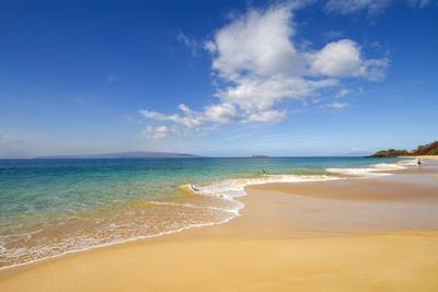 Oneloa Beach, Makena Beach, Big Beach, Makena State Park, Maui, Hawaii Stampa fotografica di Ron Dahlquist