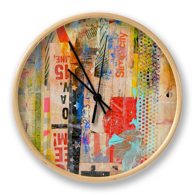 Metro Mix I Clock by Erin Ashley