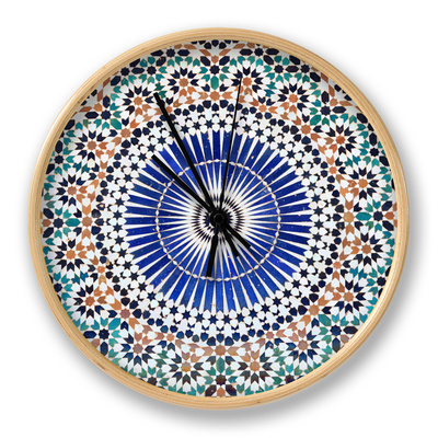Oriental Mosaic In Morocco Clock by  p.lange