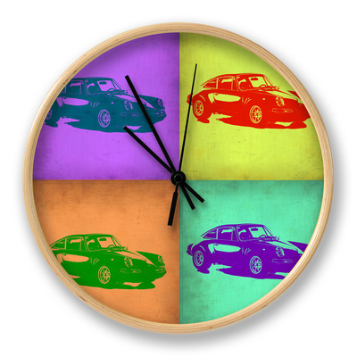 Porsche Pop Art 2 Clock by  NaxArt