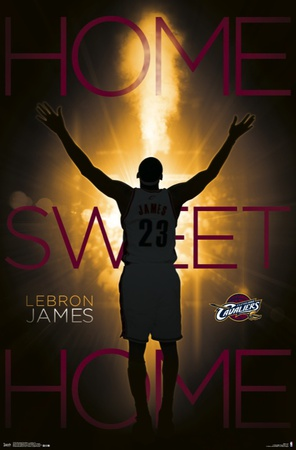 Cleveland Cavaliers - Lebron James 14 Poster