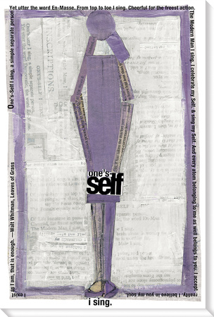 Purple Self Stretched Canvas Print by  KOCO