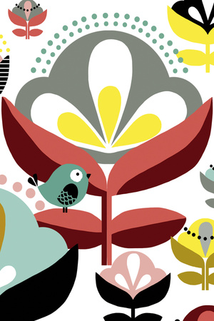Nordic Flowers IV Print by Laure Girardin Vissian