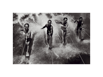 Water Ski Splash Prints by  The Chelsea Collection