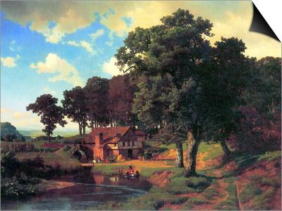 A Rustic Mill Posters by Albert Bierstadt