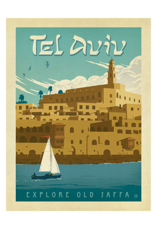 Tel Aviv, Israel, Explore Old Jaffa Poster by  Anderson Design Group