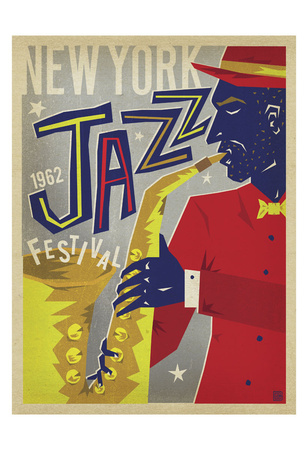 NY Jazz Fest Poster by  Anderson Design Group