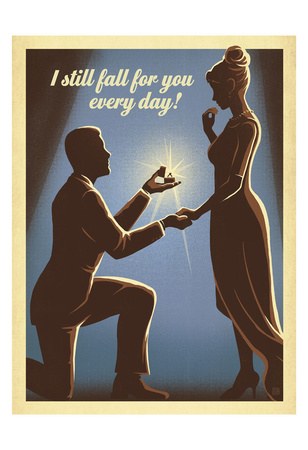 I Still Fall For You Print by  Anderson Design Group