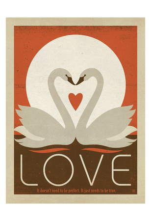 Love Swans Art by  Anderson Design Group