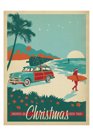 Surfs Up Christmas Posters by  Anderson Design Group