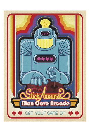 Man Cave Arcade Poster by  Anderson Design Group